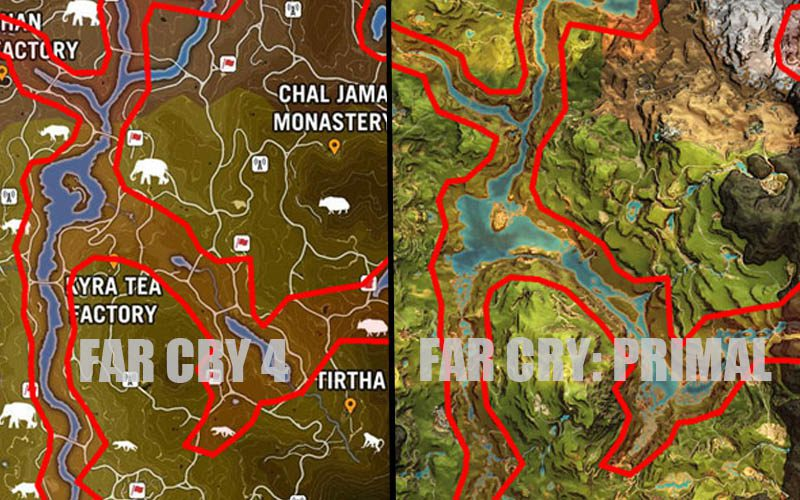 Here S Proof That Ubisoft Recycled Far Cry 4 S Map In Far Cry Primal