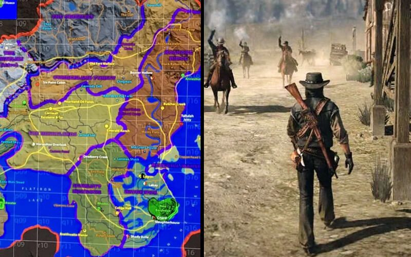 Red Dead Redemption Us Map.Red Dead Redemption 2 S Real Name Revealed Leaked Map Confirmed Real