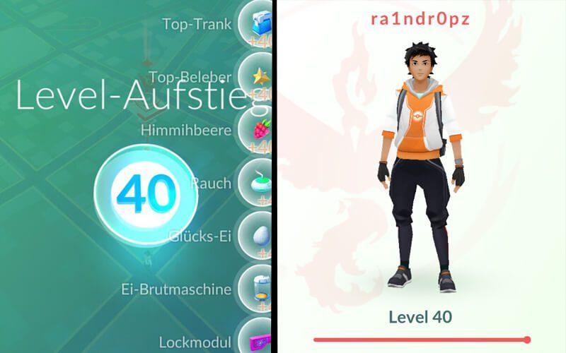here's what pokemon go level 40 rewards look like