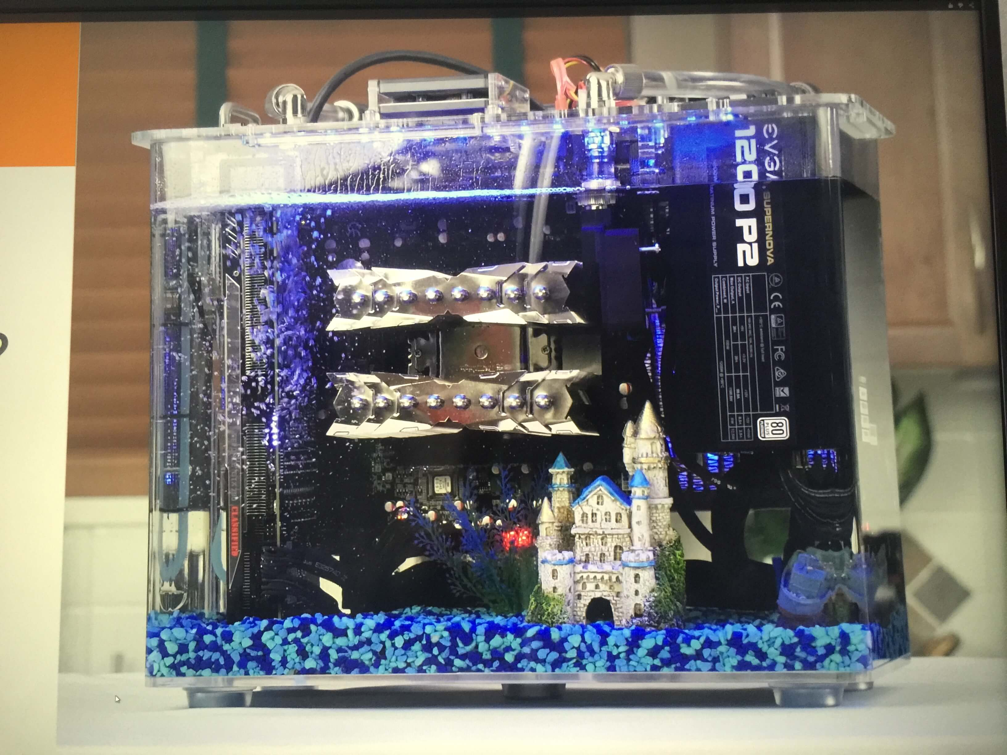 Here S Why This Computer Is Submerged In Clear Oil