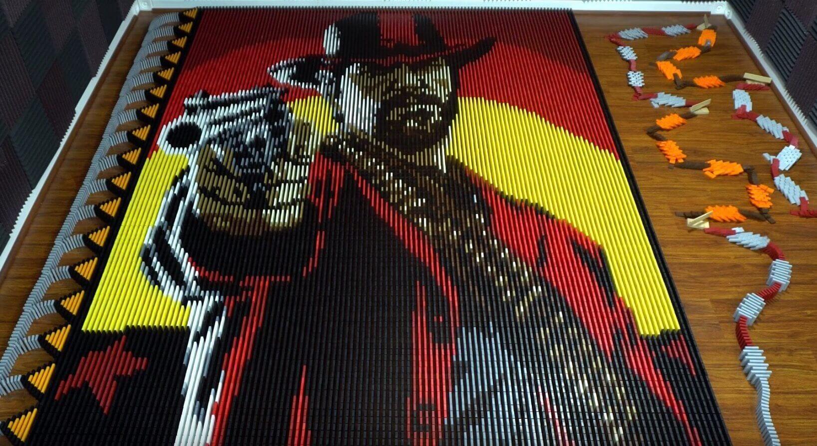 Domino Master Creates 29,000 Domino Piece for Red Dead